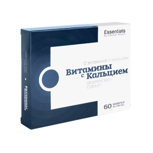 Витамины с кальцием Essentials, 60 капсул